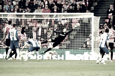 Kepa Arrizabalaga en una de sus intervenciones esta temporada. Fotografía: Athletic Club