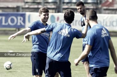 Entrenamiento zaragocista | Foto: Real Zaragoza