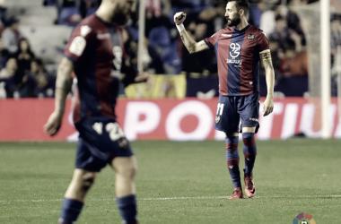 Celebración del segundo tanto contra el Sevilla / Fuente: LaLiga.es