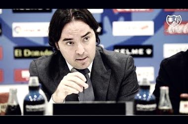 Raúl Martín Presa en rueda de prensa. Foto: Rayo Vallecano SAD