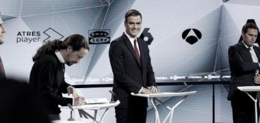 Los candidatos en un momento del debate: / José Luis Roca