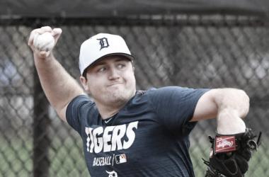 Mize durante un entrenamiento con Detroit / Foto: Getty Images