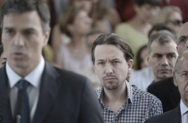 Sánchez e Iglesias en una imagen del pasado. Podemos.