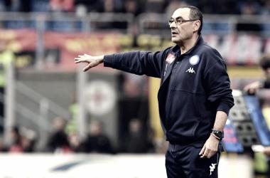 La afición del Napoli pide la renovación de Sarri