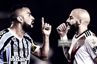 Maicon(izquierda) y Pinola(derecha) en el duelo de ida y seguramente se volverán a ver las caras. Foto: Getty images