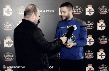 Florin Andone, mejor jugador del mes del Deportivo