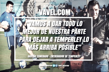 """Gastón Esmerado en exclusiva con VAVEL: """"Vamos a dar todo lo mejor de nuestra parte para dejar a Temperley lo más arriba posible"""". Foto: VAVEL"""