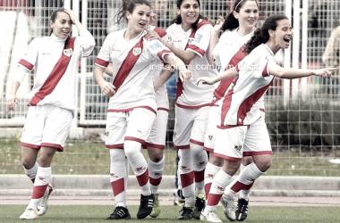 Las chicas durante un partido la pasada temporada. Foto: Rayo Vallecano