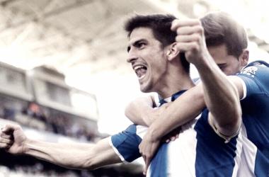 Gerard Moreno en la celebración de un gol en la temporada pasada - Fuente; Perfil Oficial Gerard Moreno
