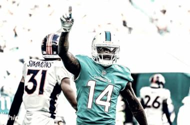 Kenny Stills fue nuevamente el receptor más destacado de los Miami Dolphins | Foto: Miami Dolphins