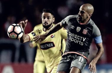 Último partido disputado entre ambos equipos en el que Juan Sebastián Verón volvió a jugar la Copa Libertadores. Foto: Infobae