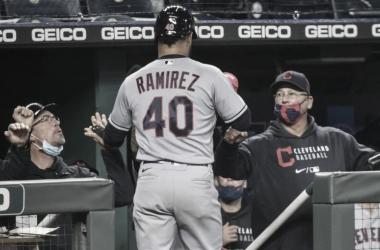 Harold Ramírez conectó su primer jonrón de la temporada Foto: AP