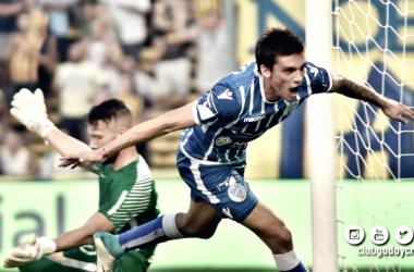 SE LLENA LA BOCA DE GOL. Garro de buen presente grita el primer gol de la tarde. Foto: Club Godoy Cruz