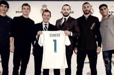 Presentación del acuerdo de patrocinio entre Real Madrid y Exness | Foto: www.realmadrid.com