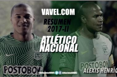 Resumen Atlético Nacional 2017-II: Alexis Henríquez, flojo semestre para el capitán verde
