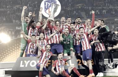 El Atlético, campeón de la Europa League/ Fuente: Atlético de Madrid