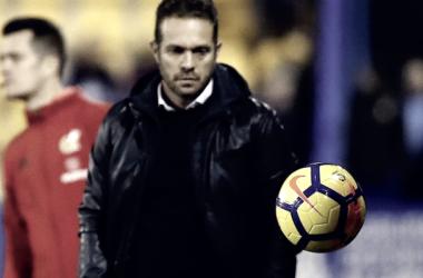 Luis García Tevenet durante el partido. | Foto: Sevilla FC