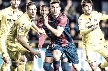 Postigo en el partido frente al Villarreal | Foto: Levante UD