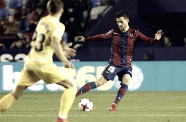 Sergio Postigo, haciéndose un hueco en este nuevo Levante de Primera. Fuente: Levante UD