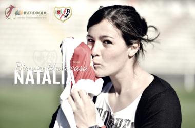 Imagen de la vuelta de Natalia al Rayo. Foto: La Liga