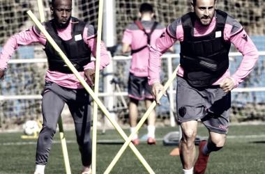 Pedro López durante un entrenamiento | Foto: Levante UD