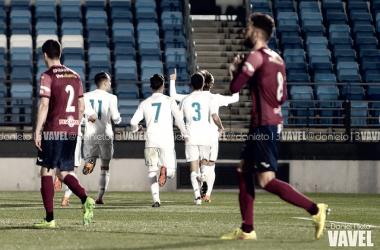 El Real Madrid Castilla consigue una contundente victoria ante el Pontevedra   Foto: Daniel Nieto (VAVEL)