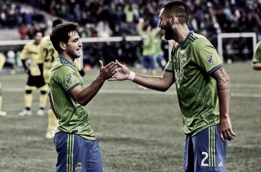 Lodeiro y Dempsey, la gran pareja de los Sounders. / Foto: SoundersFC