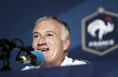 Deschamps in his pre-match press conference (photo: UEFA)
