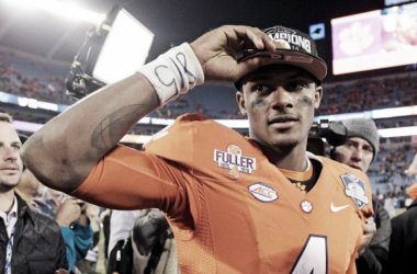 The Houston Texans traded up to pick QB Deshaun Watson from Clemson. He is a proven winner, as he singlehandedly led his team in an upset over Alabama, one of the best college teams ever. The Texans hope his winning mentality will help him become their qu