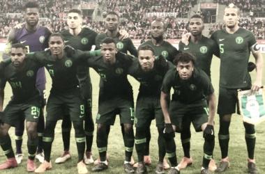 El portero Francis disputando un partido con Nigeria // RCDeportivo