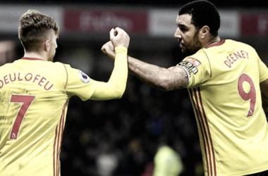 Gerard Deulofeu y Troy Deeney | Foto: Premier League