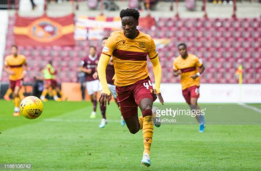 Devante Cole's strike against St Johnstone moves Motherwell clear of Aberdeen in third place. Photo by GettyImages/NurPhoto