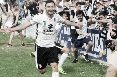 Gol de Suárez. Imagen | El Correo de Burgos.