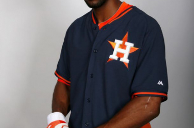 Dexter Fowler #21 of the Houston Astros poses for a portrait during photo day on February 21, 2014 at Osceola County Stadium in Kissimmee, Florida.