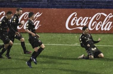 Facu Farias y toda la alegria en el equipo sabalero. Foto: Web