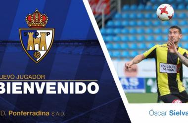 Óscar Sielva se convierte en nuevo jugador de la Ponferradina   Foto: SD Ponferradina.