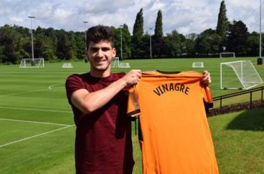 Wolves have signed Monaco defender Ruben Vinagre on a season-long loan. (picture: Wolves Official)