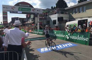 Soren Kragh Andersen vince a Gommiswald. Fonte: Tour de Suisse/Twitter