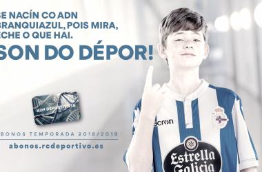 Imagen principal de la campaña de socios del Dépor // RCDeportivo