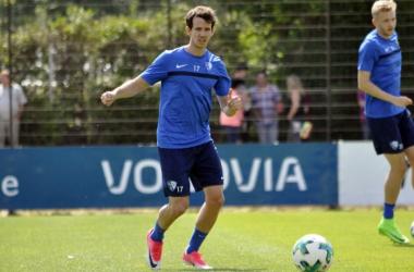 Robbie Kruse in training with Bochum.   Photo: VfL Bochum.