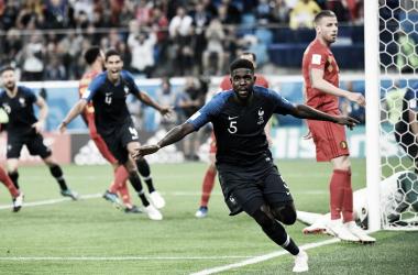 Umtiti garantiu o gol após subir mais alto em escanteio (Foto: Divulgação/FFF)