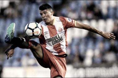 Pedro Porro en un partido disputado con el primer equipo del Girona | Fotografía: Girona CF