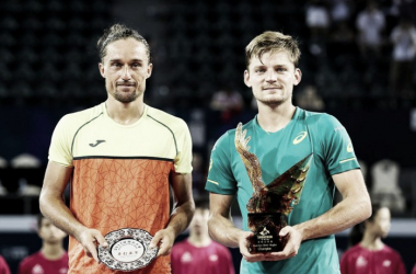 Alexandr Dolgopolov e David Goffin, finalisti a Shenzhen. Fonte: Shenzhen Open