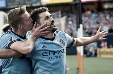 Alex Ring and David Villa. | Photo: New York City FC