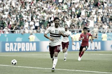 Carlos Vela celebra su gol ante Corea del Sur | Foto @miseleccionmx