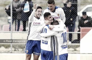 Real Zaragoza de celebración / Foto: Real Zaragoza