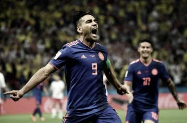 Falcao celebrando el gol conseguido ante Polonia [Foto FIFA.com]