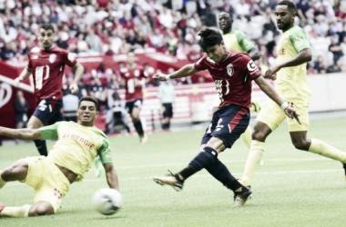 Luiz Araújo jogou os 90 minutos na vitória do Lille (Foto: Divulgação/LOSC Lille)