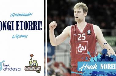 Cartel de bienvenida de Henk Norel I Fotografía: Gipuzkoa Basket