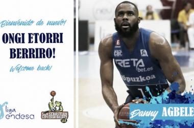 Bienvenida del Gipuzkoa Basket a Danny Agbelese I Fotografía: Gipuzkoa Basket